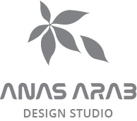 Anas Arab | Design Studio logo in gray